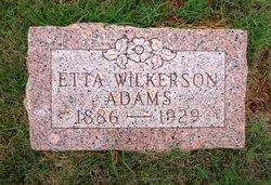 Etta <i>Wilkerson</i> Adams