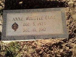 Anne Woolridge <i>Whittle</i> Cone