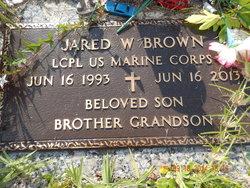 LCpl Jared W Brown