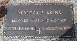 Alma Rebecca <i>Strickland</i> Akins