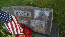 Martha M. <i>Roberts</i> Baker