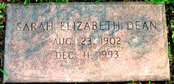 Sarah Elizabeth <i>Williams</i> Dean