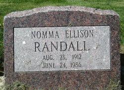 Florence Nomma <i>Ellison</i> Randall, M D