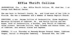 Effie <i>Thrift</i> Collins