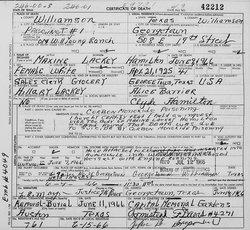 Bertha Maxine Maxine <i>Lackey</i> Hamilton