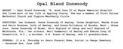Opal <i>Bland</i> Dunwoody