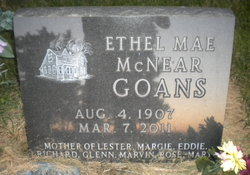 Ethel Mae <i>McNear</i> Goans