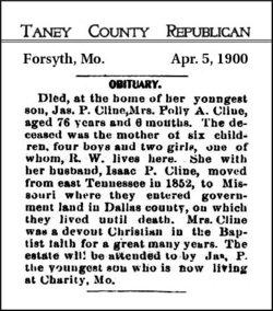 Mary Ann Polly <i>Newport</i> Cline