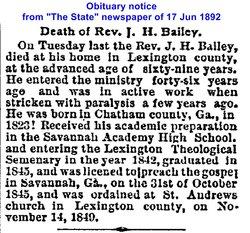 Rev James Henry Bailey