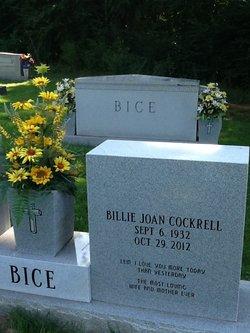 Billie Joan <i>Cockrell</i> Bice
