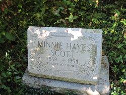 Minnie <i>Blevins</i> Hayes Scott