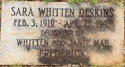 Sara Whiten <i>Burroughs</i> Deskins