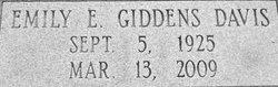 Emily E. <i>Giddens</i> Davis
