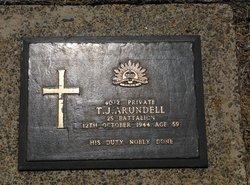 Pvt Timothy Joseph Arundell