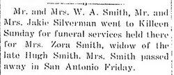Martha Zona <i>Crawford</i> Smith
