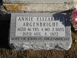 Annie Elizabeth <i>Baker</i> Argenbright