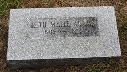 Ruth <i>White</i> Adams