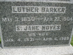 Sarah Jane <i>Noyes</i> Barker