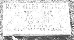 Mary <i>Allen</i> Birdwell