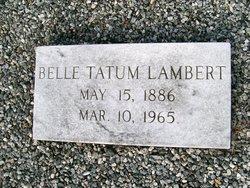 Cynthia Ida Bell <i>Tatum</i> Lambert