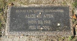Alice M. <i>Simpson</i> Aten