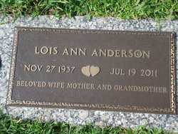 Lois Ann <i>Constable</i> Anderson