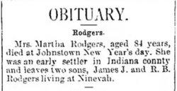 Martha <i>Matthews</i> Rodgers