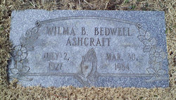 Wilma B <i>Bedwell</i> Ashcraft