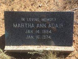 Martha Ann <i>Black</i> Adair
