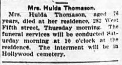 Hulda <i>Garrett</i> Thomason