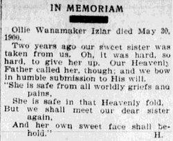 Ollie Mildred <i>Wannamaker</i> Izlar