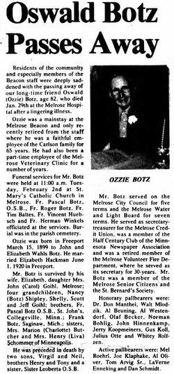 Oswald M Ozzie Botz