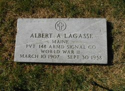 Pvt Albert Alphonse Lagasse