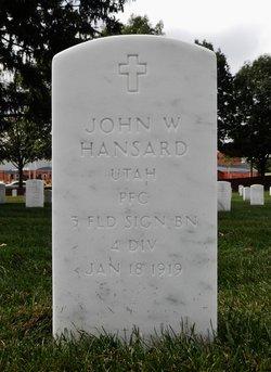 PFC John William Hansard