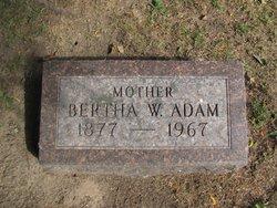 Bertha W. Adam