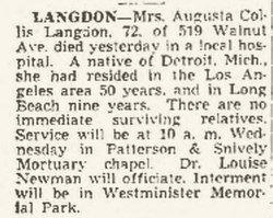 Augusta Ellen <i>Collis</i> Langdon