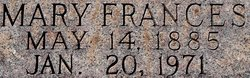 Mary Frances Fannie <i>Kennedy</i> Bruington