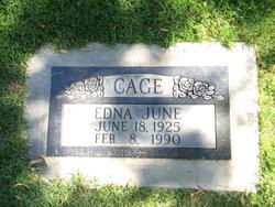 Edna June <i>Johnson</i> Cage