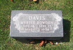 Myrtle <i>Rowden</i> Davis