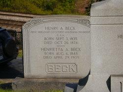Sgt Henry A. Beck