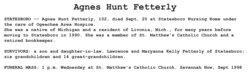 Agnes <i>Hunt</i> Fetterly