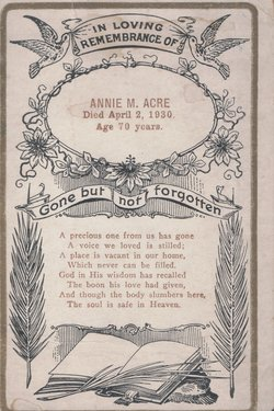 Annie <i>Moorehead</i> Acre
