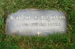 Blanche Kathryne <i>King</i> Buchanan