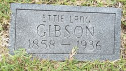 Etta Jane <i>Lang</i> Gibson