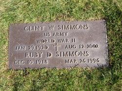 Clinton W Clint Simmons