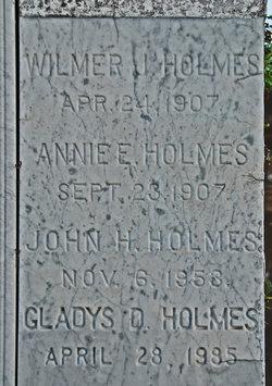 Annie Elizabeth <i>Walker</i> Holmes