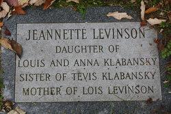 Jeanette <i>Klabansky</i> Levinson