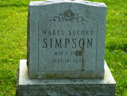 Mabel <i>Secord</i> Simpson