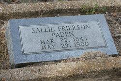 Sallie <i>Frierson</i> Paden