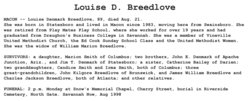 Mary Louise <i>Denmark</i> Breedlove